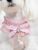 Collar Fashion Bowknot Fabric Lace Black Blushing Pink