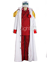 Inspired by Cosplay Cosplay Anime Cosplay Costumes Cosplay Suits Patchwork White Red Cloak Coat Shirt Pants For