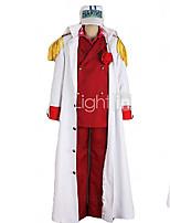 Вдохновлен Косплей Косплей Аниме Косплэй костюмы Косплей Костюмы Пэчворк Белый Красный Накидка Пальто Рубашка Брюки Для