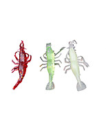 3 pcs Soft Bait Random Colors 4 g Ounce mm inch,Plastic General Fishing