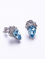Stud Earrings Crystal Crystal Dark Blue Jewelry Daily Casual 1 pair
