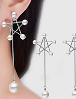 AAA Cubic Zirconia Geometric Drop Earrings Jewelry Dangling Style Wedding Party Daily Casual Alloy Cubic Zirconia 1 pair Silver