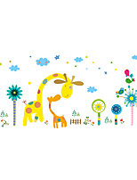 Wall Stickers Wall Decals Style Cartoon Deer Paradise PVC Wall Stickers