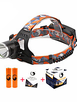 U'King ZQ-X8000#1 Cree XM-L T6 LED 2000LM 3 Mode Headlamps for Camping/Hiking/Caving Everyday Use Cycling/Bike Hunting Traveling Multifunction