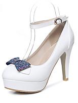 Bureau & Travail Habillé Soirée & Evénement-Jaune Rose Blanc-Gros Talon-club de Chaussures-Chaussures à Talons-Polyuréthane