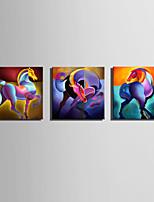 Abstrato Animal Moderno Estilo Europeu,1 Painel Tela Quadrangular Impressão artística Decoração de Parede For Decoração para casa
