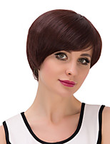 Synthetic Wigs for Black Women Straight Brown Color Bob Synthetic Wig
