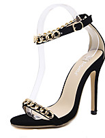 Sandals Summer Club Shoes PU Dress Stiletto Heel Chain
