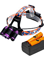 U'King ZQ-X809E-EU Headlamps LED 6000 Lumens 4 Mode 2*R5/Cree XM-L T6 18650 Adjustable Focus for Camping/Hiking/Caving Everyday Use
