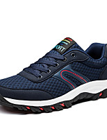 Men's Sneakers Spring Fall Comfort PU Casual Lace-up Royal Blue Black/White Navy Blue Walking