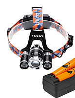 U'King® ZQ-X825E-US CREE XML-T6/2R5 LED Zoomable 4000LM Headlamp Headlight Bicycle Light for Camping Hiking