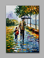 Hand-Painted Abstract The Father Loves Modern Classic One Panel Canvas Oil Painting For Home Decoration