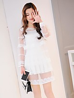 Sign Japanese and Korean style three-piece 2017 New Lei mesh yarn Slim thin three-piece suit small fragrant wind