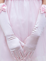 Girl Cotton Fingertips Elbow LengthSolid Party All Seasons