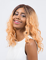 New Style Fashionable Enchanting High quality Mixed color   Medium Long Curly Hair Synthetic Wig