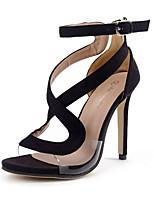 Sandals Summer Club Shoes Fleece Dress Stiletto Heel Buckle