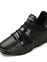 Men's Sneakers Spring Summer Fall Winter Comfort Leather Casual Flat Heel Black Red White