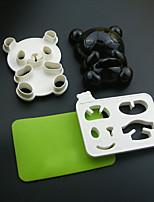 4 Peças Bolas de arroz Mold DIY For para o arroz Plástico Ecológico Gadget de Cozinha Criativa Novidades