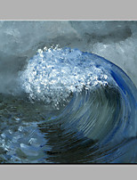 Hand-Painted The Waves Modern One Panel Canvas Oil Painting For Home Decoration