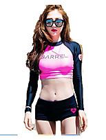SBART® Femme Haut de Combinaison Résistant aux ultraviolets Ecran Solaire Tenue de plongée Manches longues Hauts/Tops-Natation Surf