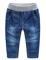 Jeans Garçon Décontracté / Quotidien Couleur Pleine Coton Hiver Automne