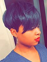 heißen Verkauf reif schwarze kurzes Haar Menschenhaar-Perücke für Frauen