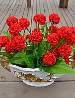 1 Une succursale Plastique Orchidées Fleur de Table Fleurs artificielles 39*5