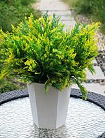 1 Ramo Plástico Couro Ecológico Plantas Flor de Mesa Flores artificiais 33
