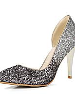 Damen-High Heels-Büro Kleid Party & Festivität-Kunststoff-Stöckelabsatz-Club-Schuhe-Gold Silber Purpur Rot