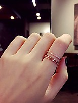 Midi Rings Chrome Leaf Unique Design Punk Classic Jewelry Wedding Special Occasion Anniversary Business Daily Sports Outdoor Valentine 1pc