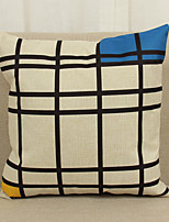 1 pcs Linen Pillow Cover Pillow Case,Novelty Textured Geometric Modern/Contemporary Casual Others