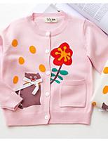 Блуза На каждый день Хлопок Цветочный принт Осень