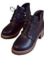 Damen-Stiefel-Lässig-PU-Blockabsatz Block Ferse-Komfort-