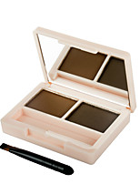 1Pcs Beauty Charming Double-Color Eyebrow Enhancer Waterproof Eye Brow Powder 3Gx2 Floral Series Makeup Brand Efu