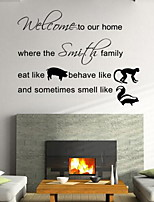 Words & Quotes Wall Stickers Plane Wall Stickers Decorative Wall Stickers,Vinyl Material Home Decoration Wall Decal