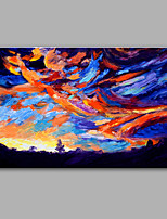 Hand-Painted Abstract  Auspicious Cloud Modern One Panel Canvas Oil Painting For Home Decoration