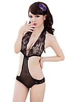 Costumes Vêtement de nuit Femme,Sexy Dentelle Jacquard Nylon Spandex