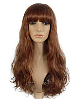 Wig Deep Wave Synthetic Fiber Long Wig ForWomen Costume Wig Heat Resistant Wig With Bangs