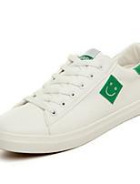 Men's Sneakers Spring Fall Comfort PU Casual Flat Heel Black Black/White White/Green