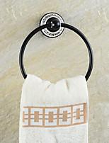 Copper Ceramics Gold Bronze Finished Towel Ring Towel HolderTowel Bar Bathroom Accessories Useful For Bathroom