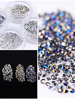 1.2mm Shining Micro Rhinestone Sharp Bottom 3D Manicure Nail Art Decoration