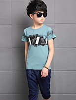 Boys' Casual/Daily Print Sets,Cotton Rayon Summer Short Sleeve Clothing Set
