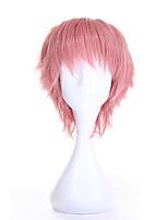 Art und Weise des heißen Verkaufs cosplay synthetische Perücken kurze lockige rosa Farbe Perücke für Frauen