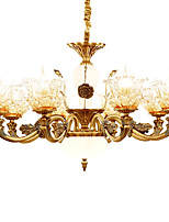 European Style Atmosphere Zinc Alloy Crystal Living Room Bedroom Home Chandelier O