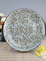 Arika Flowery Styled Porcelain Serving/Fruit Plate Dinnerware