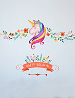 Wall Stickers Wall Decals Style Creative Horsehead PVC Wall Stickers