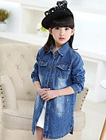 Girl's Casual/Daily Solid Suit & Blazer,Cotton Summer Spring Fall Long Sleeve