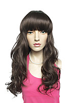 Black Wig Long Deep Wave Synthetic Fiber Wig Heat Resistant Hair For Women