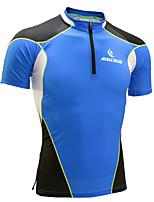 Herrn Kurze Ärmel Laufen T-shirt Sweatshirt Atmungsaktiv Rasche Trocknung Anatomisches Design UV-resistant Feuchtigkeitsdurchlässigkeit
