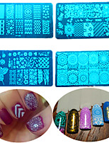 8pcs/set Hot Sale DIY Fashion Stamping Stencils Colorful Sweet Design Nail Stainless Steel Stamping Plate Manicure Beauty Tool XY-J2&3&6&7&9&12&13&14